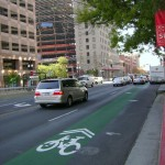 Colored Bike and Bus Lanes