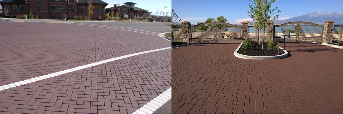 Decorative Driveway Paving Design   Bike and Walking Paths